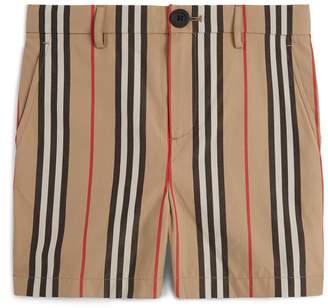 Burberry Stripe Print Shorts