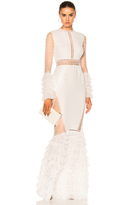 Jonathan Simkhai Tiered Ruffle Long Sleeve Lace Dress