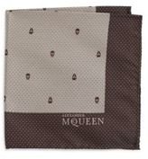 Alexander McQueen Silk Dotted Skull Handkerchief