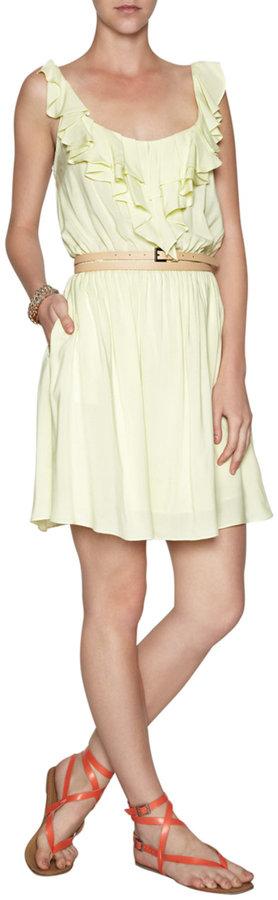 BCBGMAXAZRIA BCBGENERATION Ruffle-Front Dress