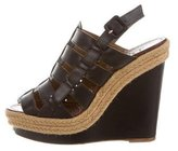Christian Louboutin Espadrille Leather Wedges