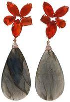 Irene Neuwirth labradorite, opal and diamond drop earrings