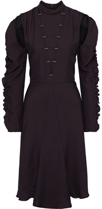 Chloé Cutout Ring-embellished Silk-blend Crepe Dress