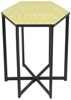Three Hands Metal Accent Table - Yellow