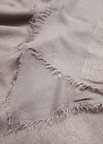 Violeta BY MANGO Striped monochrome scarf