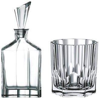 Nachtmann Aspen 7-Piece Crystal Whisky Decanter & Tumbler Set 750ml/324ml