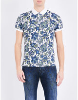 Etro Paisley-print Cotton Polo Shirt