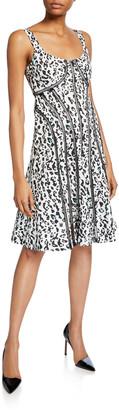 Nanette Lepore Leopard Scoop-Neck Sleeveless Fit-&-Flare Dress
