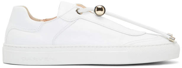 Carven White Leather Mabillon Sneakers