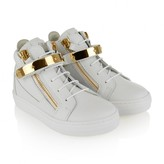 Giuseppe JuniorWhite Leather High Top Trainers