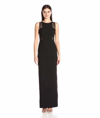 Aidan Mattox Aidan Women's Crepe Column Gown