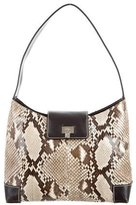Lambertson Truex Python & Leather Shoulder Bag