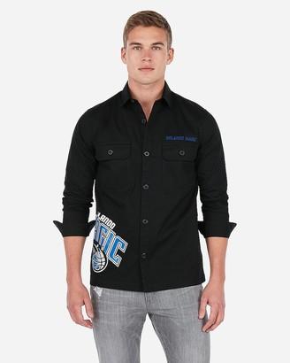 Express Orlando Magic Nba Twill Shirt Jacket