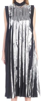 Marni Metallic Pleated Maxi Dress