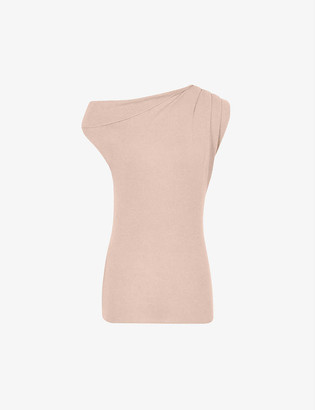 Reiss Melanie wool and cashmere-blend Bardot top