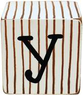 New Arrivals Newarrivals LB-Y-037 Letter Blocks Y in Chocolate