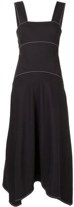 Proenza Schouler White Label Contrast Stitching Pique Dress