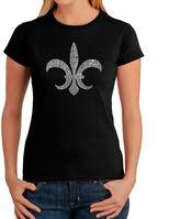 Bed Bath & Beyond Women's Word Art Louisiana T-Shirt in Black