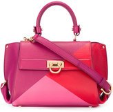 Salvatore Ferragamo geometric colourblock satchel - women - Calf Leather - One Size