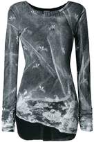 Ann Demeulemeester asymmetric printed top