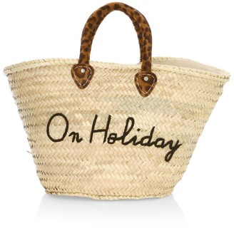 Poolside Large Le Shortie On Holiday Raffia Tote