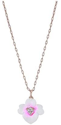 Kate Spade Precious Pansy Enamel Mini Pendant Necklace (Pink Multi) Necklace