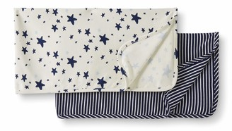 Moon and Back by Hanna Andersson 2 Pack Reversible Blanket Fashion Scarf