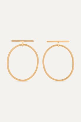 Melissa Joy Manning Net Sustain 14-karat Gold Hoop Earrings