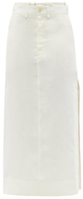 Jacquemus Terraio High-rise Linen Skirt - Light Beige