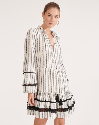 Veronica Beard Danica Striped Cover-Up Dress