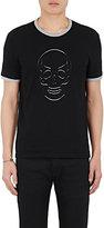 Alexander McQueen Men's Ringer Skull Cutout T-Shirt