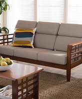 Baxton Studio Beige Larissa Classic Sofa