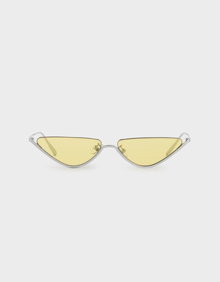 Charles & Keith Thin Metal Frame Cat-Eye Sunglasses
