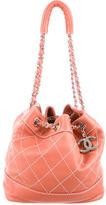 Chanel Surpique Drawstring Bucket Bag
