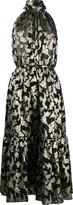 Saint Laurent long lavalliere halterneck dress
