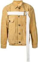 Miharayasuhiro front strap buttoned jacket - men - Goat Suede - 46