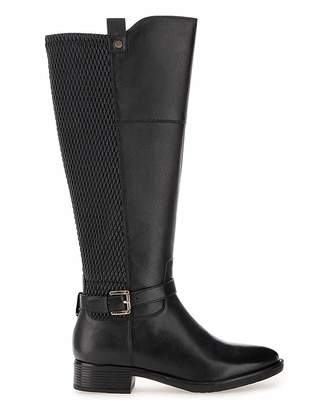 Jd Williams Leather Boots EEE Fit Curvy Plus Calf
