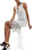 Topshop Women's Metallic Lace Dress