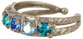 Sorrelli Wide Band Swarovski Crystal Ring