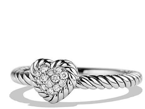 David Yurman Ch'telaine Heart Ring with Diamonds