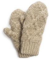 Muk Luks Women's Textured Diamond Potholder Mittens - Vanilla