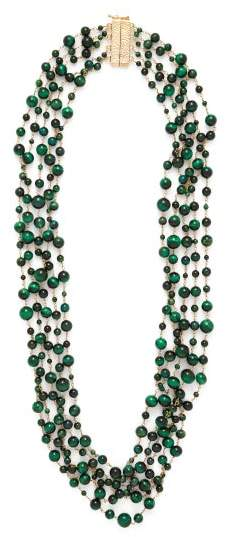 Rosantica By Michela Panero - Pegaso Beaded Quartz Necklace - Womens - Green Multi