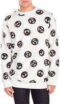 Love Moschino Peace Sign Sweatshirt