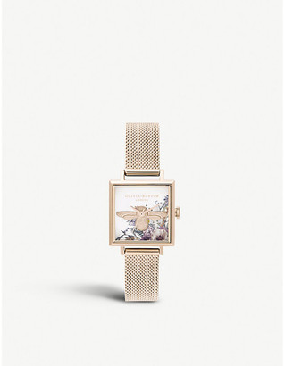 Olivia Burton OB16EG152 Enchanted Garden rose-gold ion-plated stainless steel watch