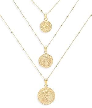 Adina's Jewels Adinas Jewels Coin Pendant Necklaces, Set of 3