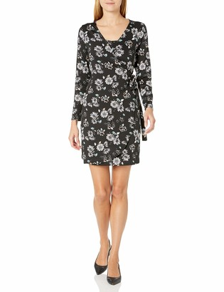 Everly Grey Women's Maternity Nursing Long Sleeve Wrap Dress