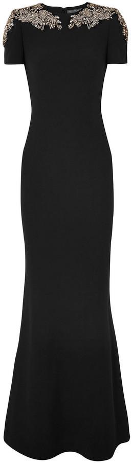 Alexander McQueen Embellished Crepe Gown