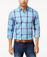 Club Room Men's Big and Tall Plaid Long-Sleeve Shirt