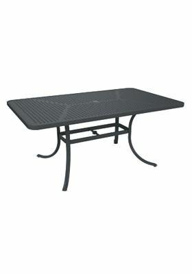 "Boulevard Rectangular 28"" Table Tropitone Frame Color: Graphite"