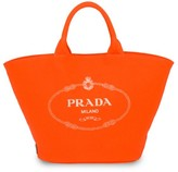 Prada Large Neon Canvas Shopper